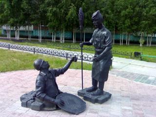 Памятник сантехнику и дворнику