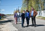 Ямашев проверил, как в Нягани ремонтируют дороги