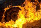 На трассе в Сургутском районе сгорел джип