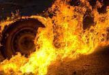 В Октябрьском районе снова сгорел автомобиль