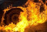 В Нягани во 2 микрорайоне сгорел автомобиль