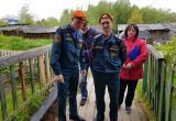 В Нягани пожарные и представители УК провели профилактический рейд. ФОТО