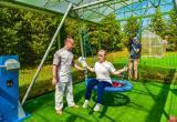 На базе Няганского реабилитационного центра открыли специализированную спортплощадку. ФОТО