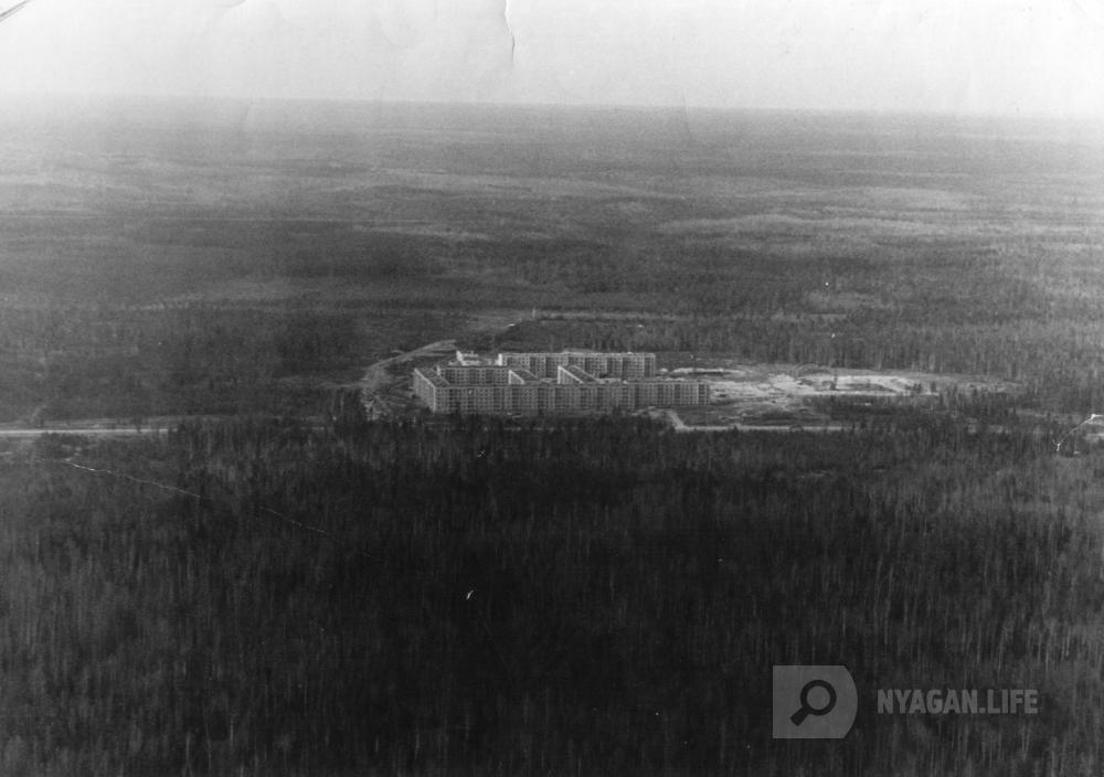 Фото 1983 год Вид сверху на будущий город Нягань
